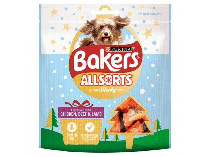 bakers dog treat chkn beef and beef allsorts 98g 57050 T1