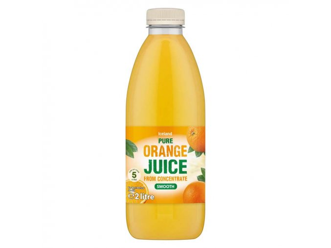 iceland pure smooth orange juice from concentrate 2l 46959