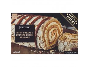 iceland luxury irish cream and butterscotch roulade 420g 81413