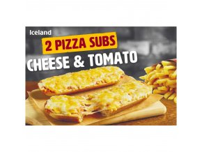 iceland 2 pizza subs cheese tomato 270g 68654