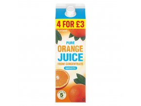 iceland pure smooth orange juice from concentrate 1l 79712