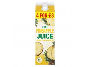 iceland pure pineapple juice from concentrate 1l 79919