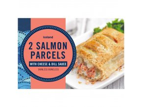 iceland 2 salmon parcels with cheese dill sauce 280g 49105