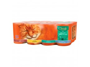 butchers classic mixed variety fish and meat chunks in jelly cat food tins 12 x 400g 78667 T1