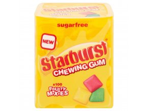starburst fruity mixies chewing gum sugar free bottle 100 pieces 79184 T5