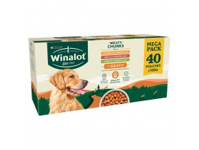 winalot dog food pouches mixed in gravy 40 x100g 71129 T1