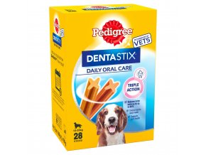 pedigree dentastix adult medium dog dental treats 28 sticks 720g 33037 T1