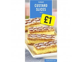 iceland custard slices 210g 74503