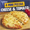 iceland 4 mini pizzas cheese tomato 356g 68695