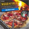 iceland bbq meat feast stonebaked pizza 380g 81242