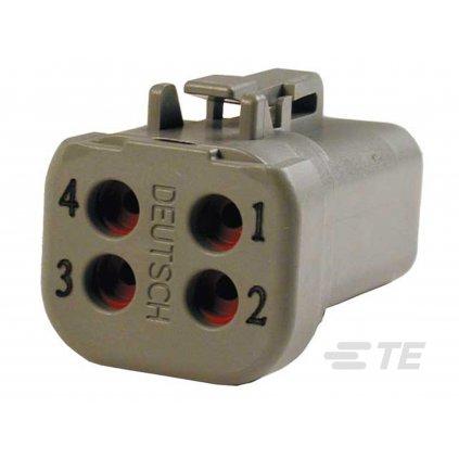 DTP06-4S-E003  Tělo výkonového těsněného konektoru řady DTP