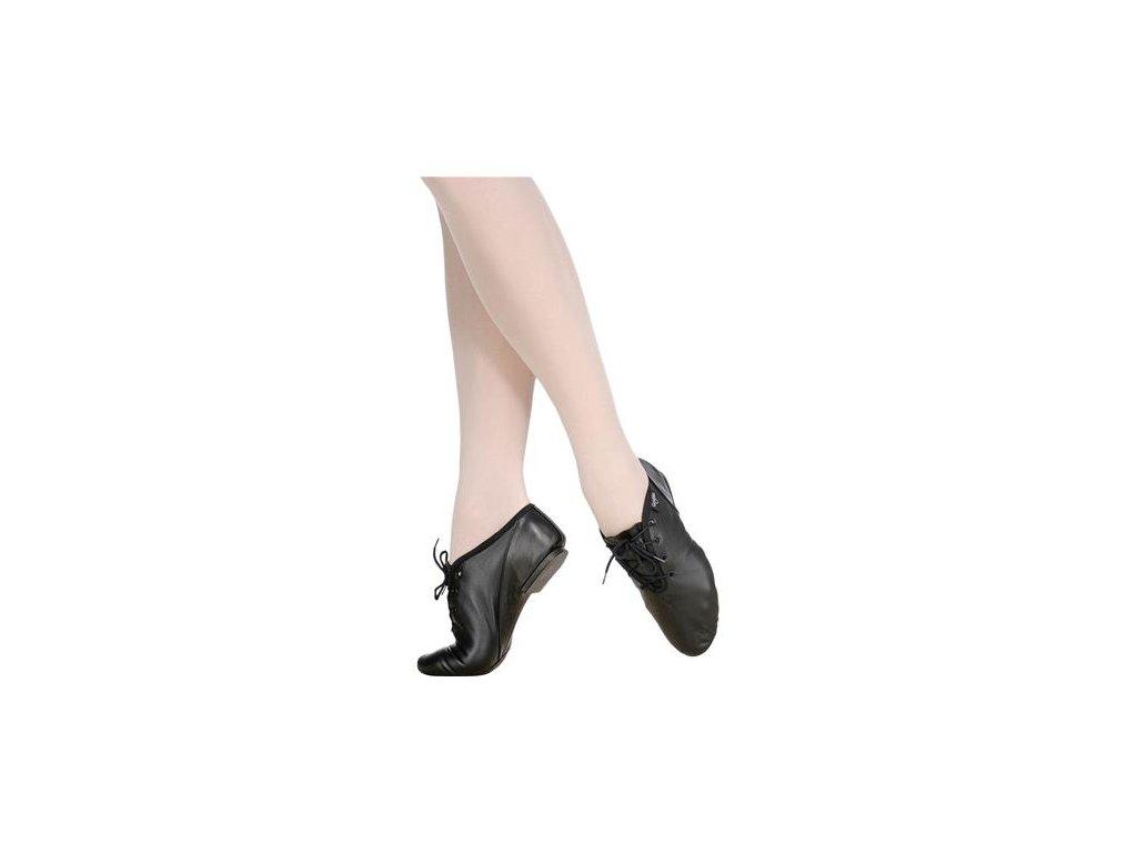 Jazzové boty kožené - šněrovací