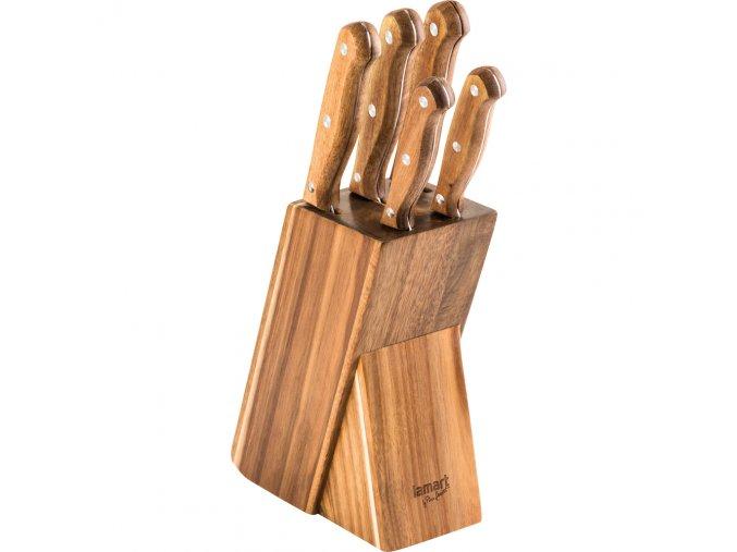 LT2080 Set 5 nožů v bloku WOOD LAMART