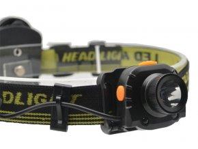 Solight čelová LED svítilna se senzorem, 3W Cree, černá, 3 x AAA