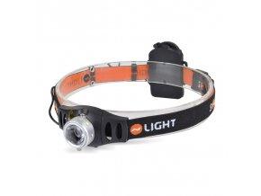 Solight LED stmívatelná čelová svítilna , 3W Cree, 140lm, fokus, 3x AAA
