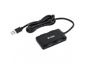 YHB 4341BK Hub 4x USB 3.0 černý YENKEE
