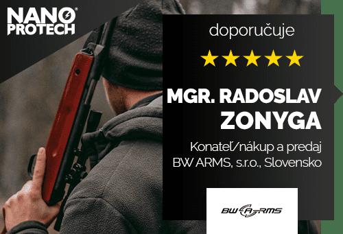 Mgr. Radoslav Zonyga - Konateľ/nákup a predaj; BW ARMS, s.r.o., Slovensko