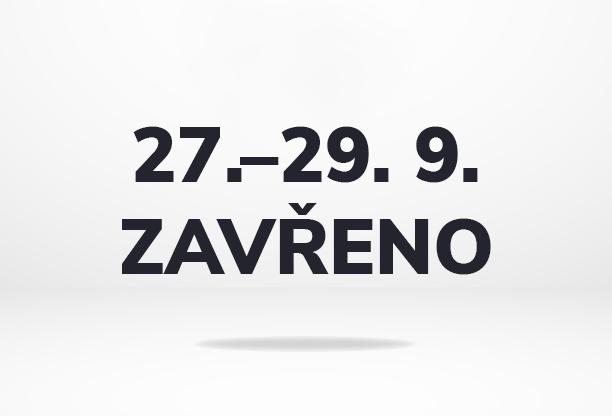 Od pondělí 27. do středy 29. září budeme mít firemní volno