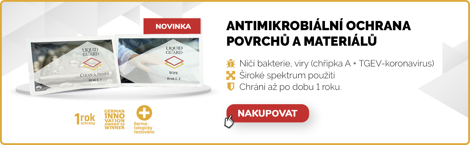 NOVINKA Liquid Guard ubrousky - Antimikrobiální ochrana povrchů až na 1 rok