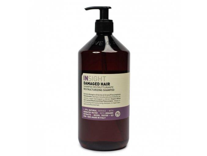 INSIGHT Damaged Restructurizing Shampoo 900 ml - šampon pro poškozené vlasy