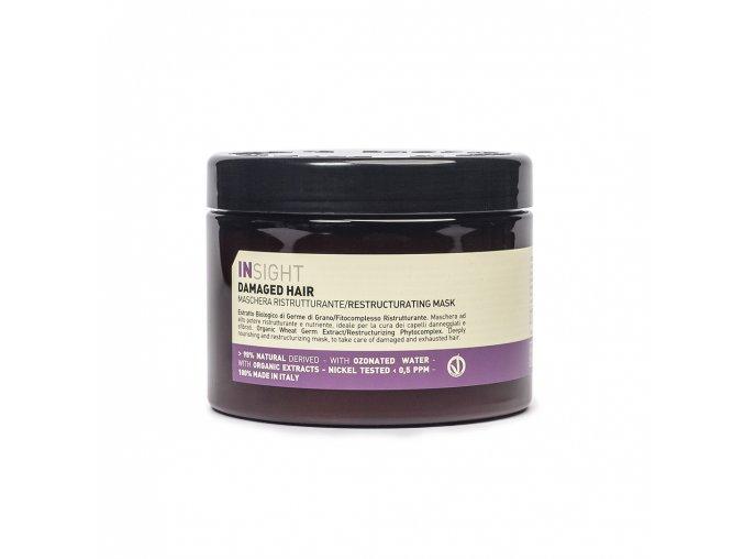 INSIGHT Damaged Restructurizing Mask 500 ml - maska pro poškozené vlasy