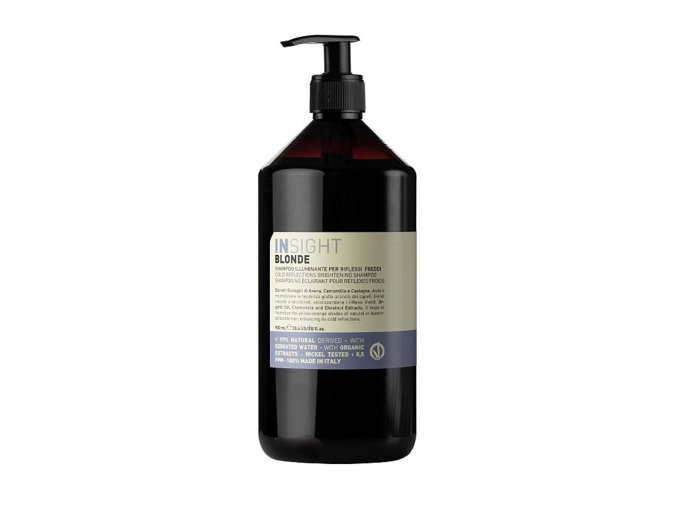 INSIGHT Blonde Cold Reflections Brightening Shampoo 900 ml - šampon pro rozjasnění studených odlesků