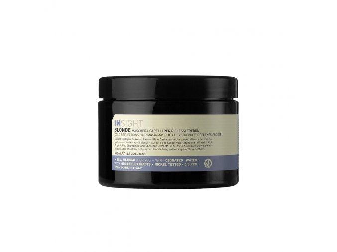INSIGHT Blonde Cold Reflections Hair Mask 500 ml - maska na vlasy pro zvýraznění studených odlesků