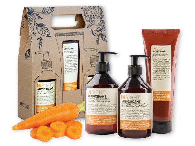 Balíček INSIGHT ANTIOXIDANT šampon 400 ml + kondicionér 400 ml + maska 250 ml dárková sada