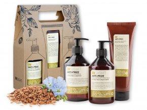 Balíček INSIGHT ANTI-FRIZZ šampon 400 ml + kondicionér 400 ml + maska 250 ml dárková sada