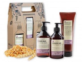 Balíček INSIGHT DAMAGED HAIR šampon 400 ml + kondicionér 400 ml + maska 250 ml dárková sada