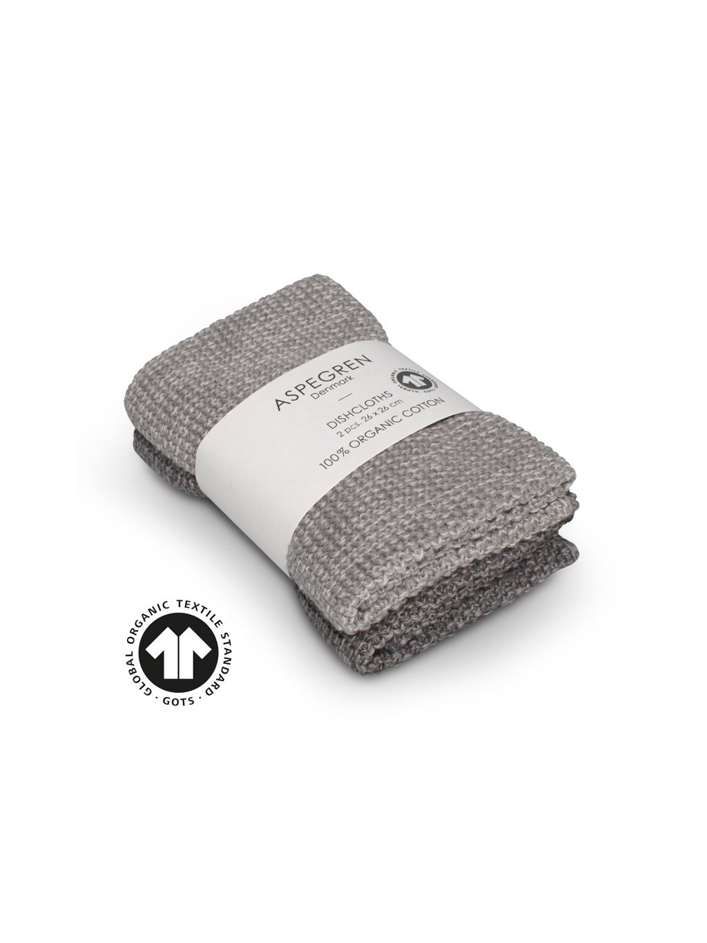 Aspegren dishcloth knitted solid blend gray 3563 web1