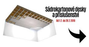 Únor 2019 - Sádrokartonové desky a příslušenství