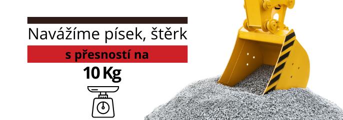 Navážíme Vám písek a štěrk s přesností 10 Kg
