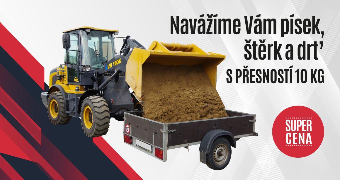 Navážíme Vám písek s přesností 10 kg