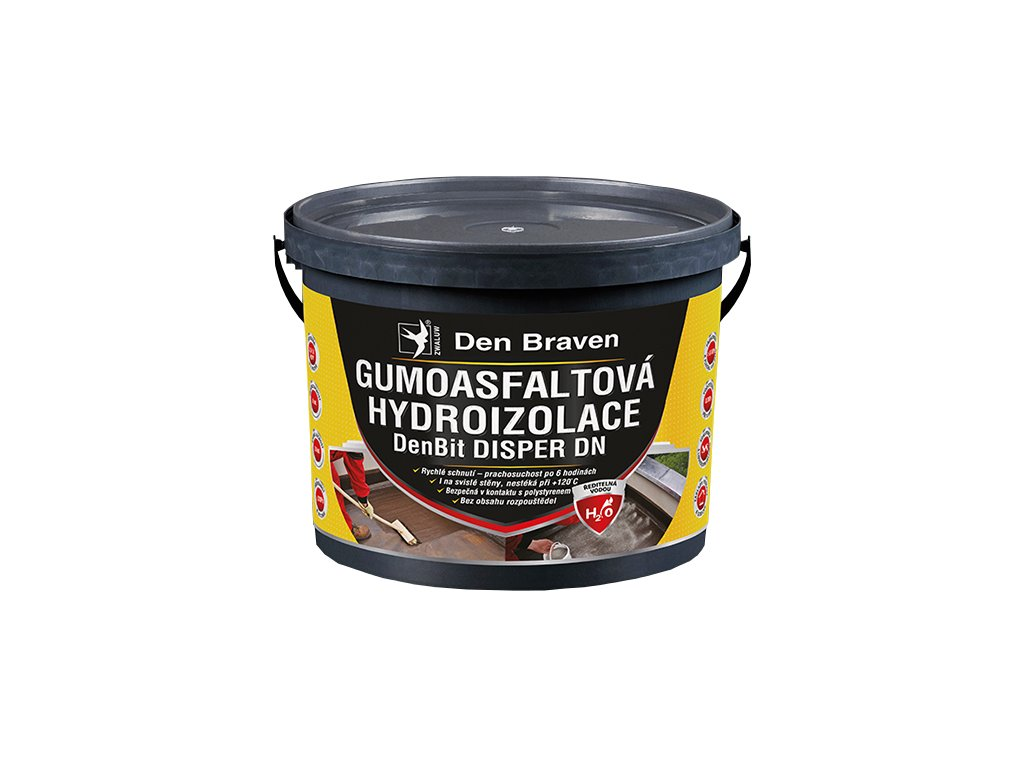 Gumoasfaltová izolace Den Braven DenBit DISPER DN (10 kg)