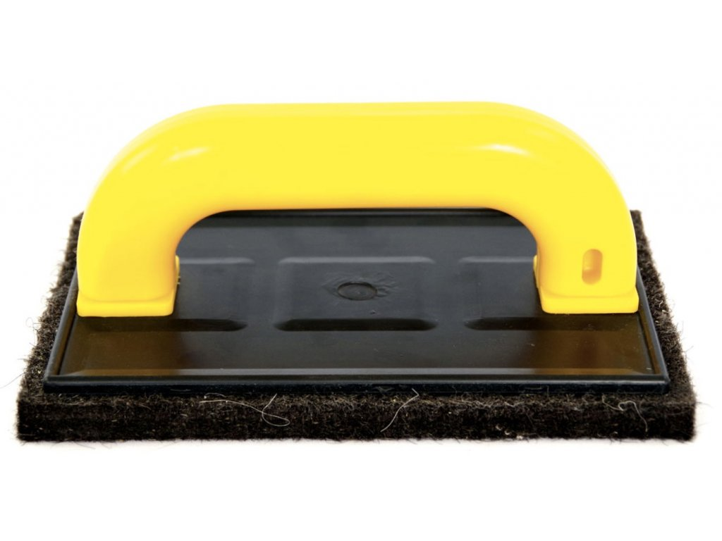Plastové hladítko s černou plstí Festa 34431 (200x130 mm)