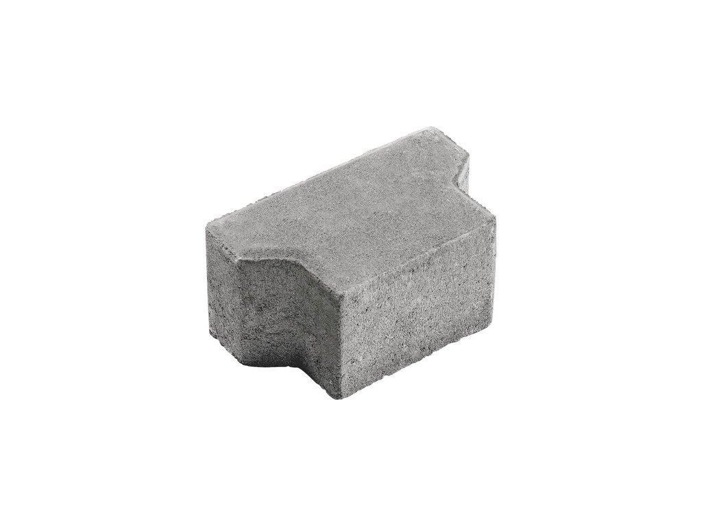 Zámková dlažba kost půlka / konec EHL (přírodní, 6 cm)