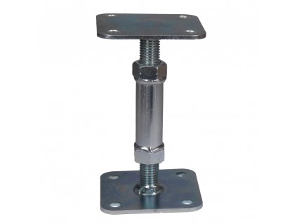 Kotevní patka pilíře stavitelná HPM TEC (100x100 mm, 120-170 mm) - galvanický zinek