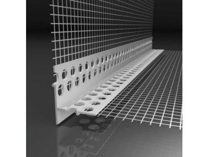 Okenní plastová lišta s tkaninou pro nepřiznanou hranu Likov LT (2,5 m)