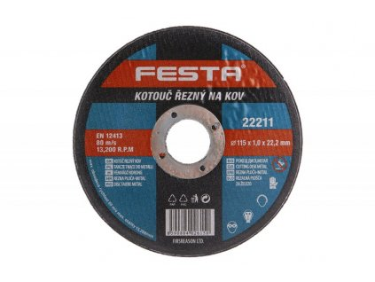 Řezný kotouč na kov Festa Standart (22,2 mm)