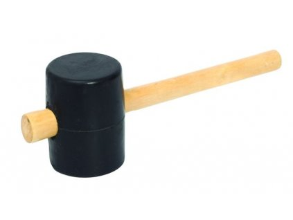 Gumová palička s dřevěnou rukojetí Festa (černá)