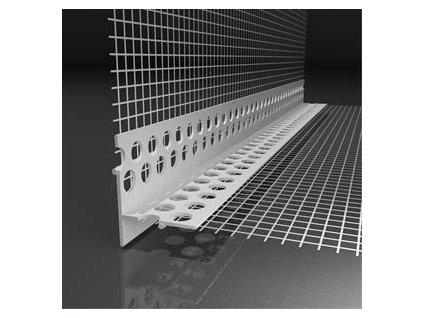 Okenní plastová lišta s tkaninou pro nepřiznanou hranu Likov LT (2 m)