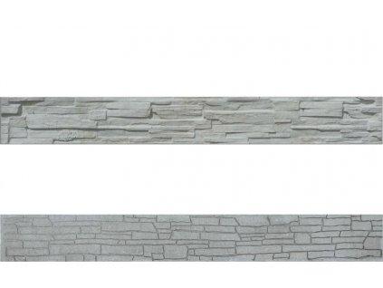 Plotová soklová deska ze štípaného kamene EVEREST 2000 (200x25 cm)