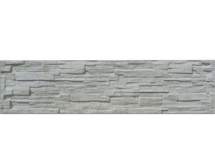 Jednostranná plotová deska ze štípaného kamene EVEREST 2000 (200x50 cm)