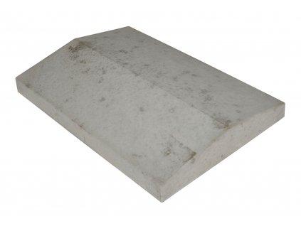 Plotová stříška s okapničkou hladká přírodní (39x27x5,5 cm)