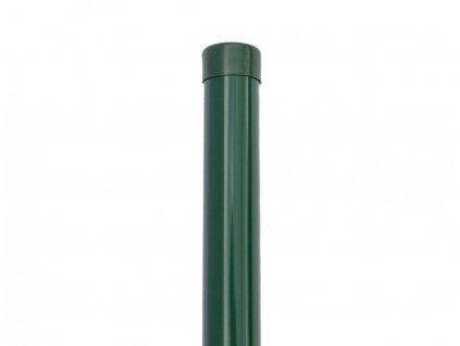 Poplastovaný plotový sloupek Šroubek (průměr 48 mm)