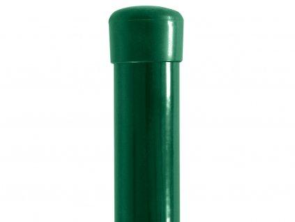 Poplastovaný plotový sloupek Šroubek (průměr 38 mm)