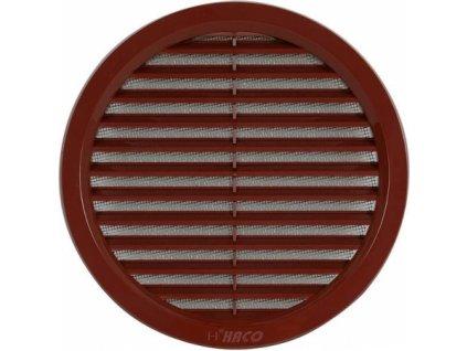 Kulatá ventilační mřížka Haco (hnědá)