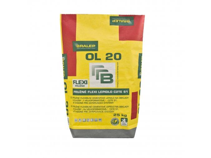 Flexibilní lepidlo na obklady a dlažbu Bralep OL 20 - C2TE S1 (25 kg)