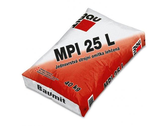Jednovrstvá strojní lehčená omítka Baumit MPI 25 L